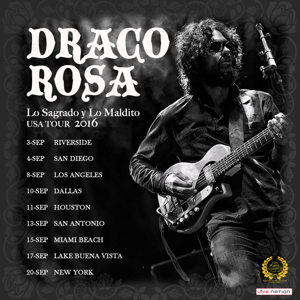 Draco Rosa - Loa Maldito y Lo Sagrado - ALL Tour dates Approved Image